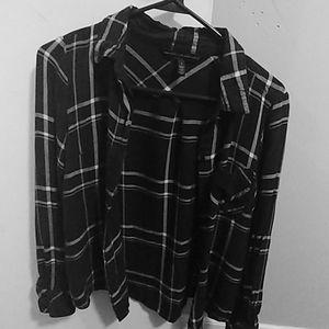 White House Black Market Flannel Shirt